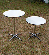"Round Cabaret ""High Top"" Table with 30"" Diameter Top"